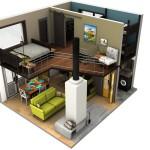 รวมแบบแปลนบ้านขนาดเล็ก ในรูปแบบ 3 มิติ ไอเดียครบครันบนพื้นที่ที่จำกัด