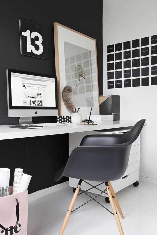black-office-with-diy-wall-calendar