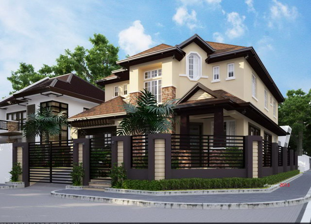 contemporary elegant 2 storey house (1)