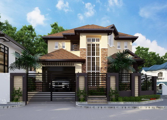 contemporary elegant 2 storey house (2)