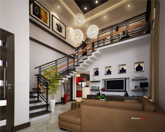 contemporary elegant 2 storey house (5)
