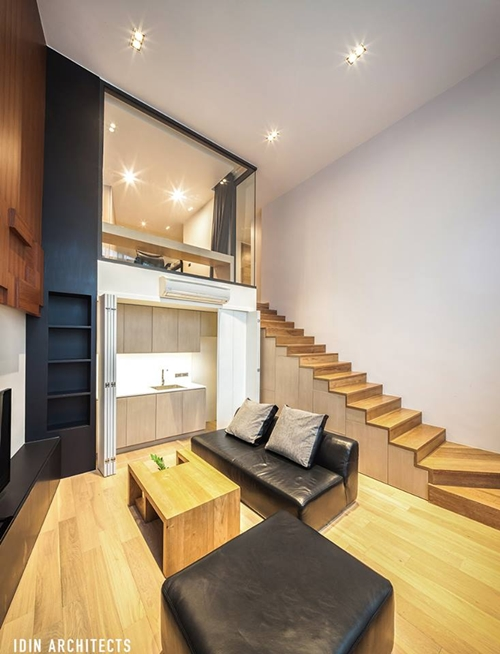 modern glassy townhouse renovation (11)