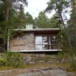บ้านรูปทรงโมเดิร์น วัสดุในอารมณ์บ้านรัสติค ความสวยงามทามกลางป่าเขา