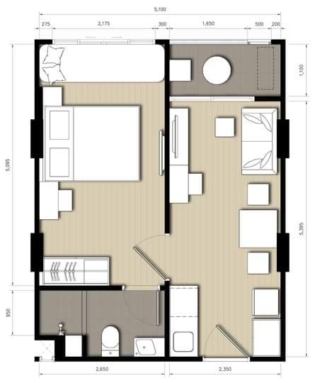 renovate 34 sq mts condo to hotel interior style (1)