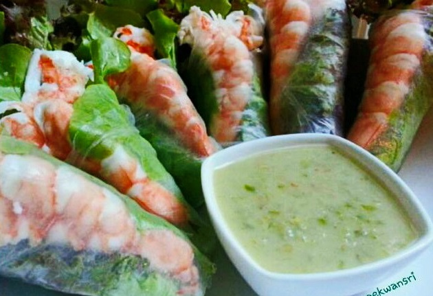 rolled-shrimp-salad-with-seafood-mayo-dip-sauce