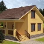 แบบบ้านไม้สองชั้น ดีไซน์เรียบง่ายด้วยหลังคาทรงจั่ว มาในขนาด 4 ห้องนอน 2 ห้องน้ำ