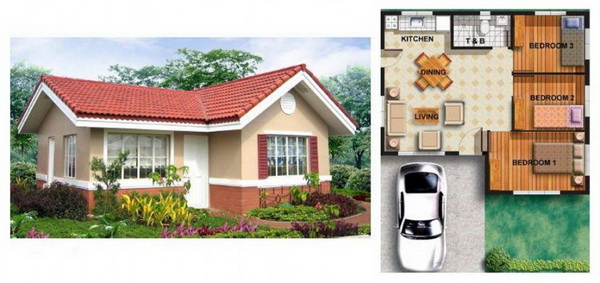 small contemporary gable 3 bedroom house (2)