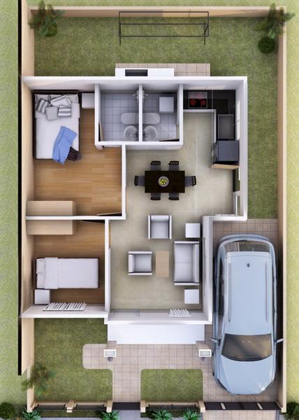 small cozy contemporary house plan (2)