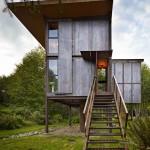 บ้านโมเดิร์นคอทเทจ ตกแต่งให้มีกลิ่นอายย้อนยุค และใช้วัสดุจากธรรมชาติ