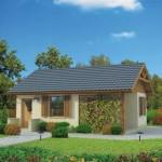 บ้านชั้นเดียวร่วมสมัย พื้นฐานของครอบครัวขนาดเล็ก และความร่มรื่นของซุ้มไม้หน้าบ้าน