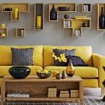 10 ไอเดียแต่งห้องนั่งเล่นด้วยโทนสีเหลือง – เทา สร้างบรรยากาศที่สดใสและอบอุ่นไปพร้อมๆ กัน