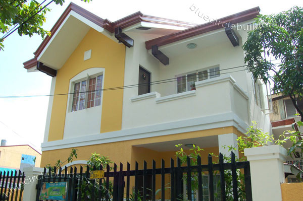 yellow white cozy contemporary house (1)