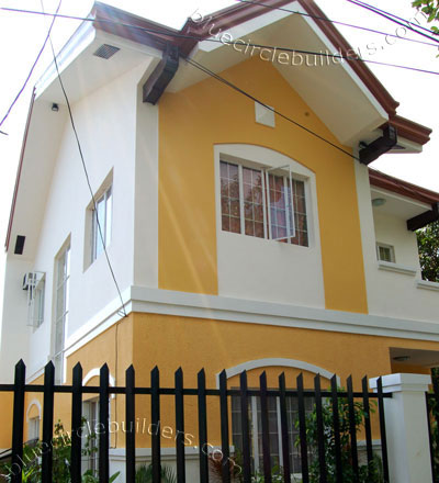 yellow white cozy contemporary house (2)