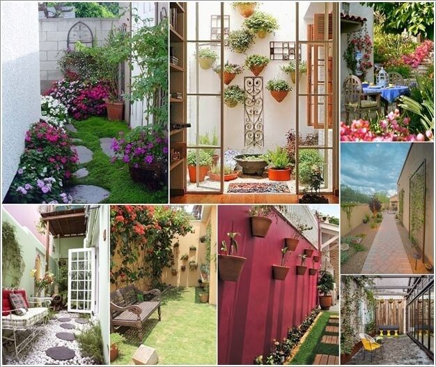 10 ideas to decorate the wall of side yard (1)