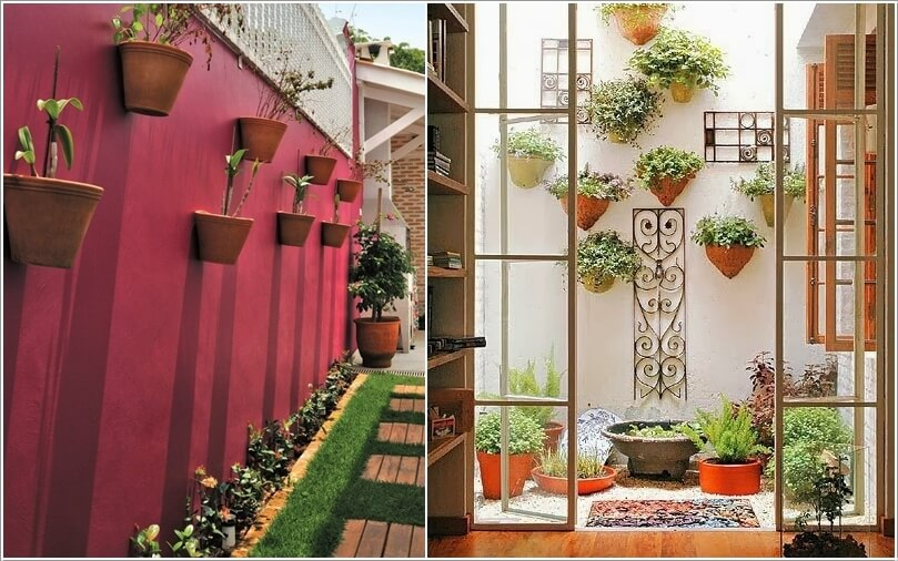 10 ideas to decorate the wall of side yard (2)