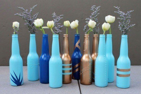 13 ideas to decorate house with old glass bottle (10)