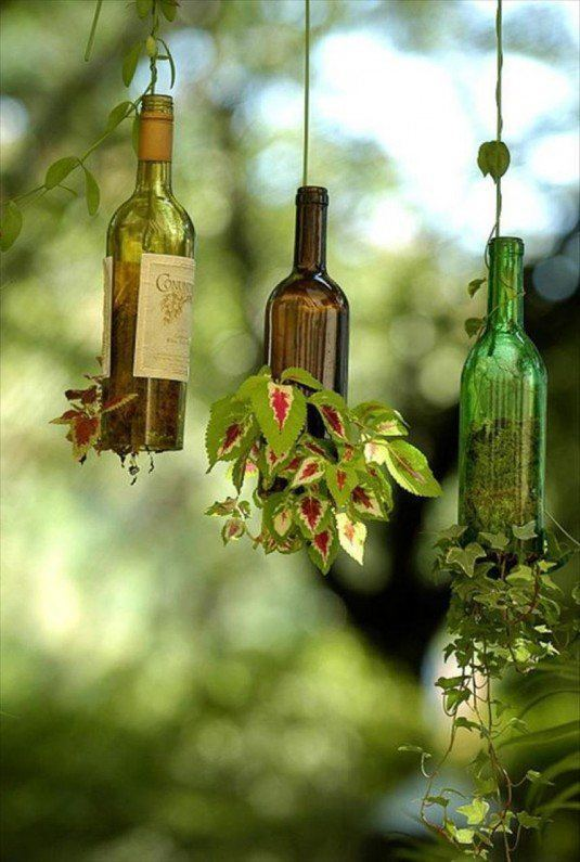 13 ideas to decorate house with old glass bottle (11)