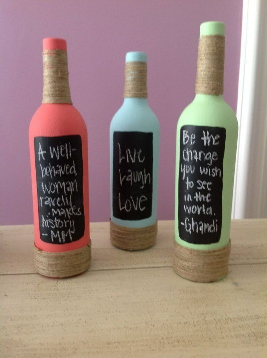 13 ideas to decorate house with old glass bottle (13)