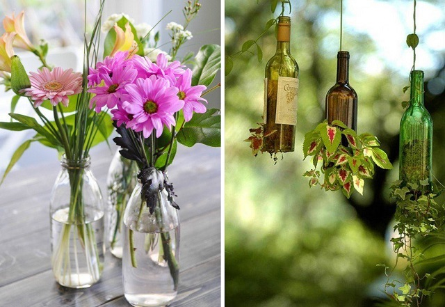 13 ideas to decorate house with old glass bottle (14)