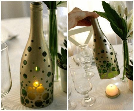 13 ideas to decorate house with old glass bottle (5)