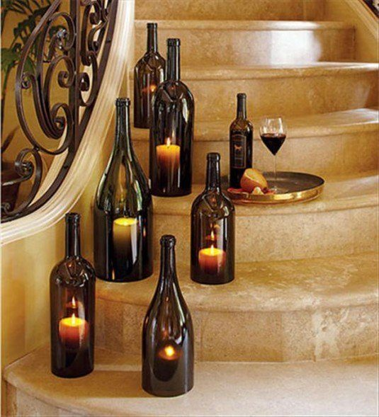 13 ideas to decorate house with old glass bottle (6)