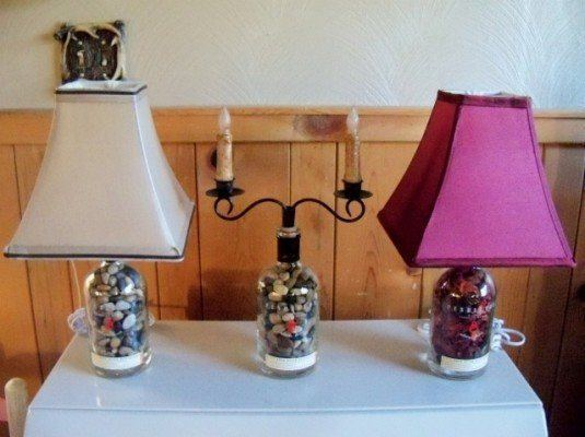 13 ideas to decorate house with old glass bottle (7)