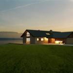 บ้านคอทเทจขนาดกลาง ตกแต่งด้วยไม้และอิฐ สวยงามและอบอุ่นทามกลางธรรมชาติ