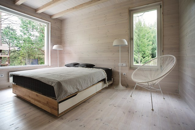 Lithuanian-Hunting-House-Devyni-architektai-Lithuania-Bedroom-Humble-Homes
