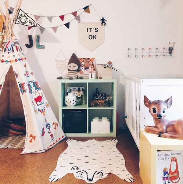 animal-felt-rug-for-kids-room