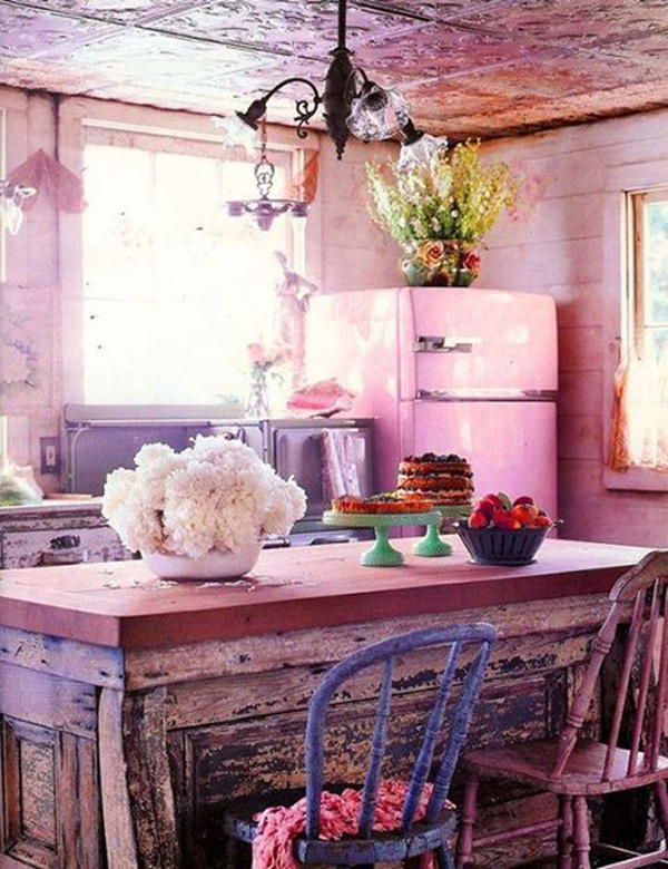 chic-pink-bohemian-kitchens