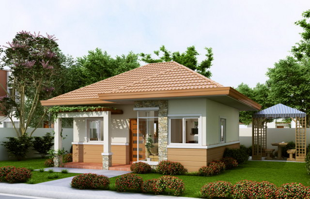 cozy hip roof house for small family (1)