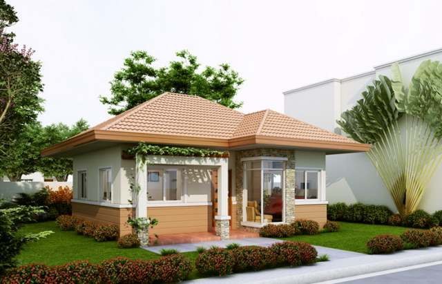 cozy hip roof house for small family (2)
