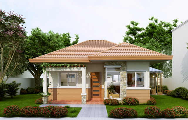 cozy hip roof house for small family (3)