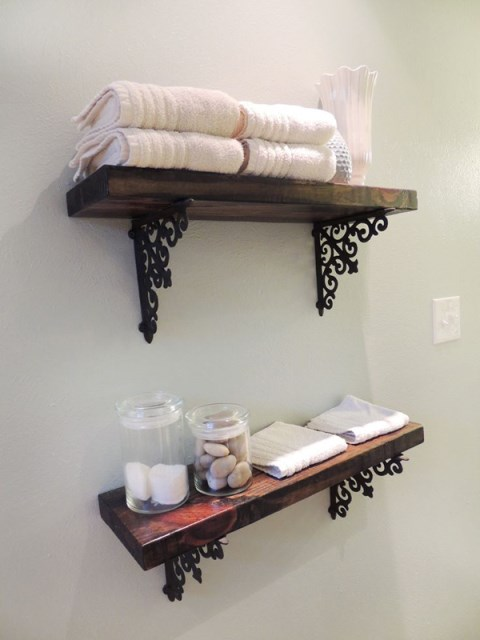 diy-wood-stain-bathroom-shelves