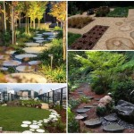 17 ไอเดียตกแต่งสวน ในรูปแบบทางเดินวงกลม จากหินและไม้