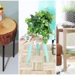 """10 ไอเดีย """"โต๊ะข้าง"""" สร้างฟังก์ชันพร้อมความงาม วัสดุจากไม้"""
