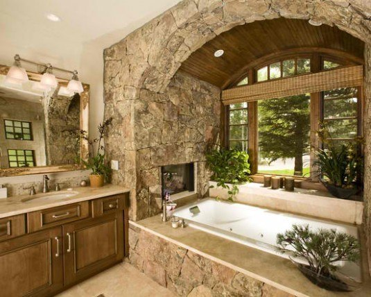 incredible interior stone wall for all rooms in a house (1)