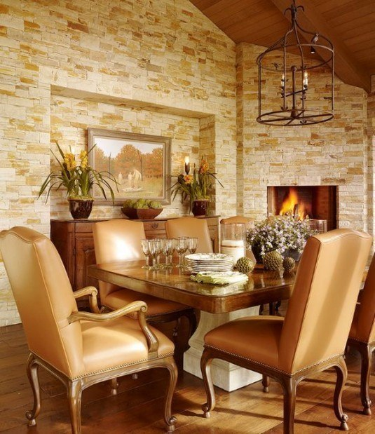 incredible interior stone wall for all rooms in a house (3)