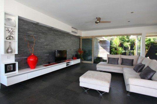 incredible interior stone wall for all rooms in a house (5)