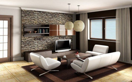 incredible interior stone wall for all rooms in a house (8)