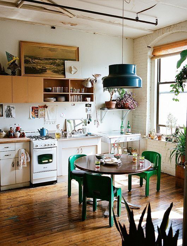 minimalist-bohemian-kitchen-with-wooden-floors