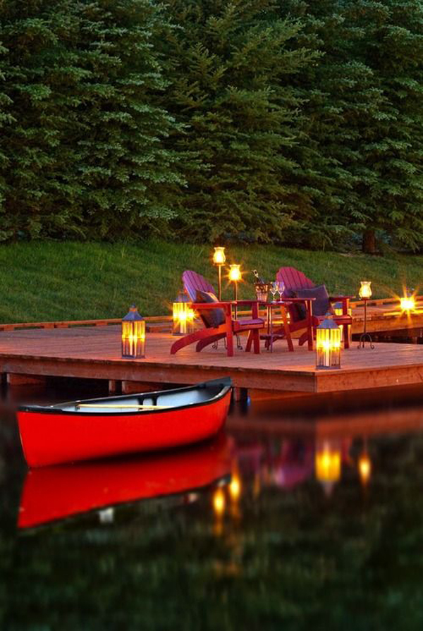 romantic-deck-with-pond-lighting