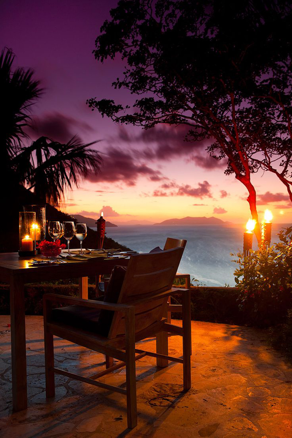 romantic-dinner-with-caribbean-sunset