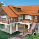 แบบบ้านทรงไทยประยุกต์ ยกพื้นสูงเปิดโล่ง รับบรรยากาศภายนอกได้เต็มเปี่ยม