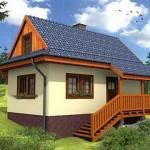 แบบบ้านยกสูงทรงปั้นหยา ขนาดกะทัดรัด เหมาะสำหรับบรรยากาศชนบท