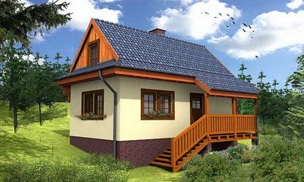 small hip roof house for suburban area (1)