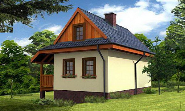 small hip roof house for suburban area (2)