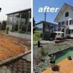Review : เปลี่ยนพื้นที่หลังบ้านที่ไร้ค่า ให้กลายเป็นสระน้ำแสนสวย บรรยากาศดีสุดๆ