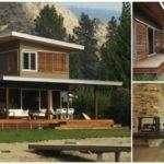 บ้านสองชั้นสไตล์โมเดิร์น โทนสีเทาผสมผสานกับงานไม้ กลายเป็นความอบอุ่นที่น่าค้นหา