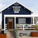 บ้านคอทเทจ 2 ห้องนอน ออกแบบเรียบง่าย มาพร้อมเฉลียงและซุ้มไม้เลื้อย